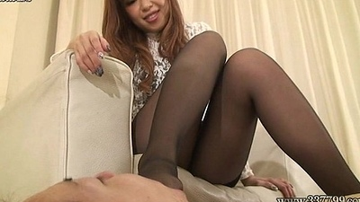 Japanese Female domination Airi footworship and boots fetish