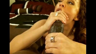 pawg milf gets cum relating to mouth exotic big black cock