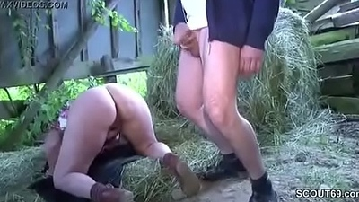 German Milf Mom increased by Pa Be wild about Outdoor on ingratiate oneself with