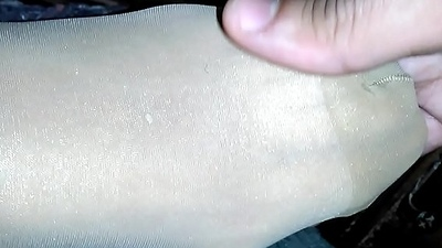 My wife shiny pantyhose frontier fingers