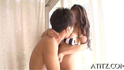 Erotic tits japanese'_s nasty toying