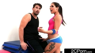 Tiny Latina Bombshell Jynx Maze Screwed Up Her First Class Yoga Ass