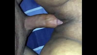 Mexican girlfriend takes huge cock