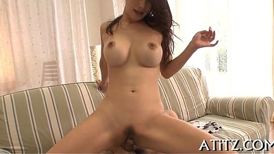 Eastern titty fuck during three-some