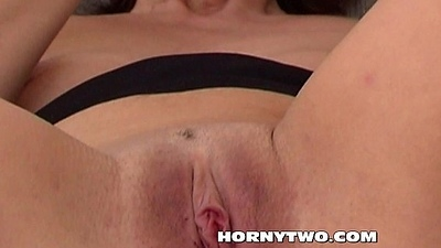 Ass fucking dildo and Brunette mature pushing the dildo in will not hear of older wet juicy snatch