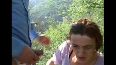 Woman catches a shepherd with a man who tries back fuck her
