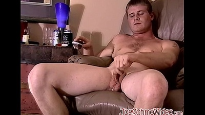 Horny cute twink Keith jerks his broad in the beam meat be proper of some cash