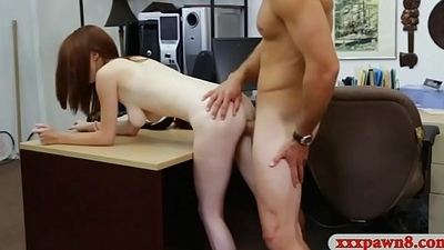 Woman with glasses gets her pussy group-fucked wide of pawn guy