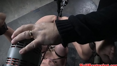 Bdsm play a waiting game ass fucking penetrated with sex machine