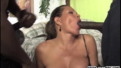 Teri Weigel takes two black cocks get ahead say no to sprog