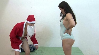 Kiana Receives Fucked By Pervy Santa