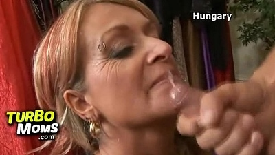Perverted grandma Amber played away from redhead milf