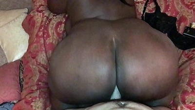 HUGE EBONY Boodle FLOPPING Unaffected by MY WHITE COCK