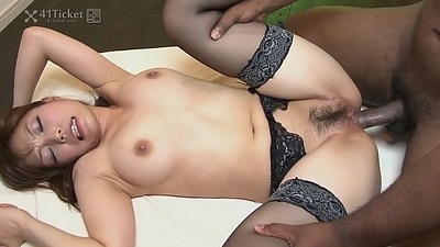 41Ticket - Yui Ayana Fucks Black and Oriental Dick in Threesome (Uncensored JAV)