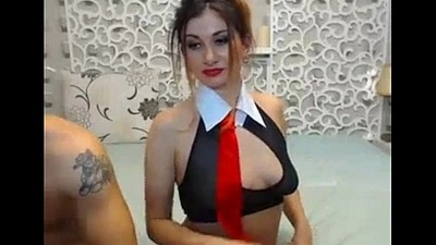 Lipstick girl fucks added to exploitatory talks on webcam - AdultWebShows.com