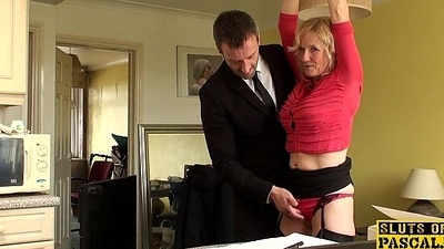 Mature uk sub gets cuffed and dominated renounce
