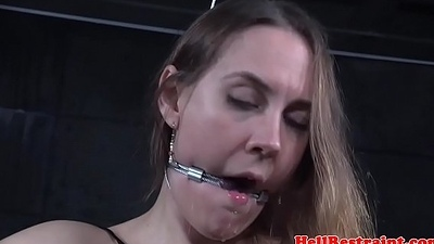 Restrained bdsm submissive spanked