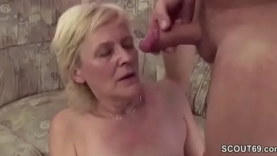 Young Boy Seduce Granny adjacent to get His First Fuck