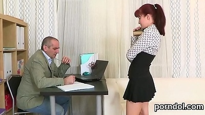 Kissable schoolgirl was enticed and poked wits her senior schoolteacher